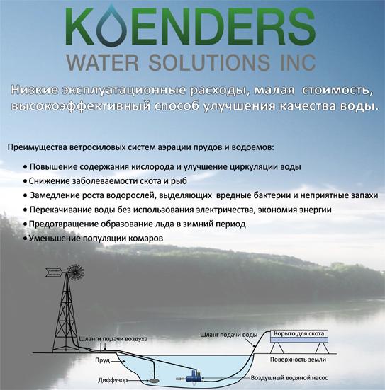 Схема процесса аэрации водоема